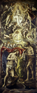 Picture no: 30001518 El Greco / Baptism of Christ / 1596 Created by: Greco, El (Domenikos Theotokopoulos)