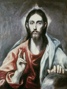 Picture no: 30001540 El Greco/ Salvator Mundi/ um 1600 Created by: Greco, El (Domenikos Theotokopoulos)