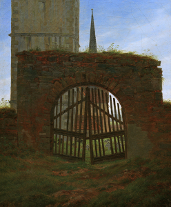 Picture no: 30001560 C.D.Friedrich /The cemetery gate /c.1825 Created by: Friedrich, Caspar David