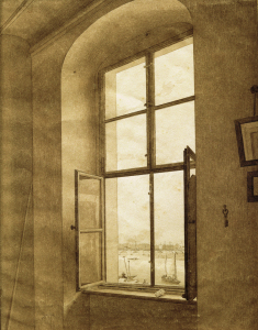 Picture no: 30001562 C.D.Friedrich/View from th.studio/c.1805 Created by: Friedrich, Caspar David