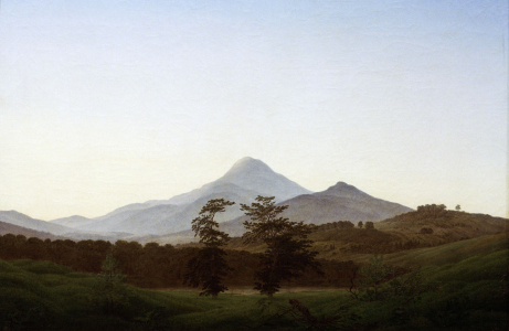 Picture no: 30001568 C.D.Friedrich, Bohemian landscape Created by: Friedrich, Caspar David