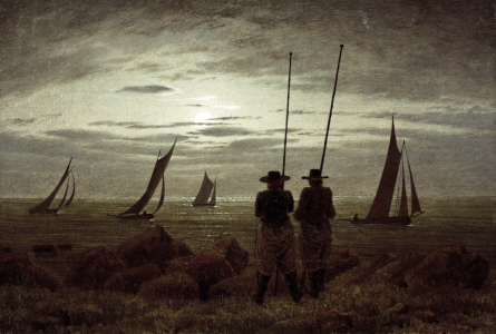 Picture no: 30001588 C.D.Friedrich, Mondnacht am Strand Created by: Friedrich, Caspar David