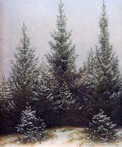 Picture no: 30001594 C.D.Friedrich, Fichtendickicht im Schnee Created by: Friedrich, Caspar David