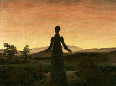 Picture no: 30001602 C.D.Friedrich / Woman in Sunset / c.1818 Created by: Friedrich, Caspar David