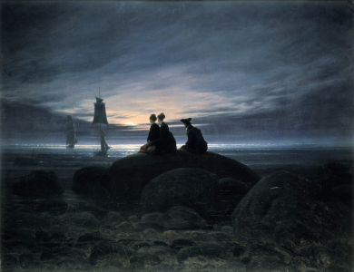 Picture no: 30001604 Friedrich / Moonrise by the Sea / 1822 Created by: Friedrich, Caspar David