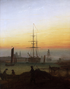 Picture no: 30001624 Friedrich /Harbour of Greifswald /c.1815 Created by: Friedrich, Caspar David