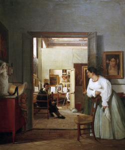 Picture no: 30001698 J.A.D.Ingres' Studio in Rome / J.Alaux Created by: Ingres, Jean-Auguste-Dominique
