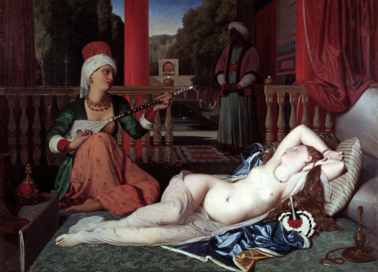 Picture no: 30001704 Ingres / Odalisque and Slave / Painting Created by: Ingres, Jean-Auguste-Dominique