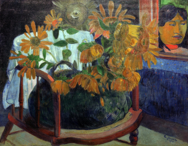 Picture no: 30001732 P.Gauguin, Sonnenblumen auf Armstuhl Created by: Gauguin, Paul