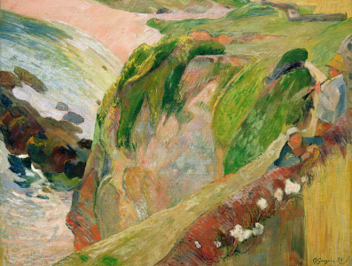 Picture no: 30001740 Gauguin /Flut Player on th.Cliffs/ 1889 Created by: Gauguin, Paul