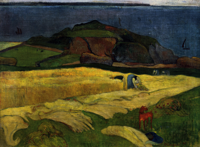 Picture no: 30001750 Gauguin, Die Ernte am Meer: Le Pouldu Created by: Gauguin, Paul
