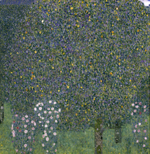 Picture no: 30001760 Gustav Klimt / Rose bushes under trees Created by: Klimt, Gustav
