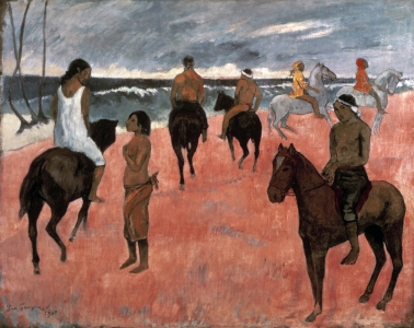 Picture no: 30001850 Gauguin, Reiter am Strand/ 1902 Created by: Gauguin, Paul
