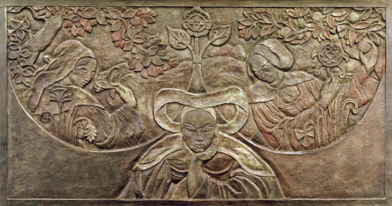 Picture no: 30001856 P.Gauguin, Bretoninnen (Relief) Created by: Gauguin, Paul