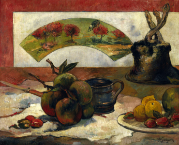 Picture no: 30001860 Gauguin, Stilleben mit Fächer / 1889 Created by: Gauguin, Paul