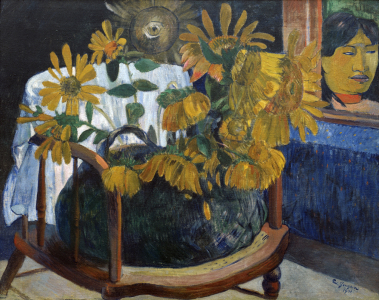 Picture no: 30001864 Gauguin / Sunflowers in an Armchair II Created by: Gauguin, Paul