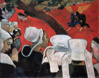 Picture no: 30001866 Gauguin, Jacobs Kampf mit dem Engel/1888 Created by: Gauguin, Paul