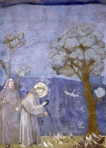 Picture no: 30001926 St.Francis Preaches to Birds /Fresco/C13 Created by: Giotto di Bondone