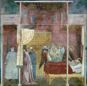 Picture no: 30001946 Giotto / St. Francis and John of Ilerda Created by: Giotto di Bondone