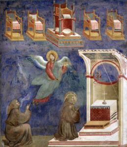 Picture no: 30001948 Giotto / Visions of the throne Created by: Giotto di Bondone