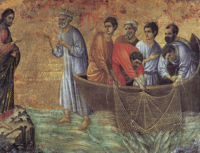 Picture no: 30002112 Duccio /App.of Christ on Lake Tiberias Created by: Duccio (di Buoninsegna)