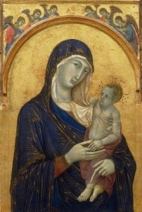 Picture no: 30002118 Duccio / Mary and Child / c.1300/05 Created by: Duccio (di Buoninsegna)