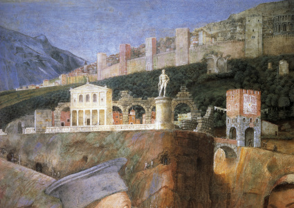 Picture no: 30002156 A.Mantegna / Cam.d.Sposi, Town / Fresco Created by: Mantegna, Andrea