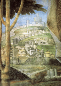 Picture no: 30002158 A.Mantegna / Cam.d.Sposi, Town / Fresco Created by: Mantegna, Andrea