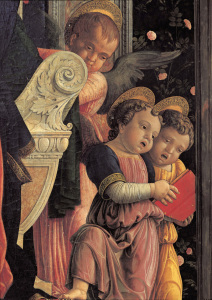 Picture no: 30002178 A.Mantegna, Altar of S.Zeno / Angels Created by: Mantegna, Andrea