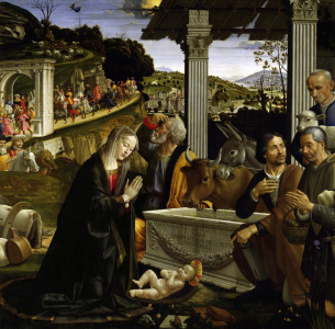 Picture no: 30002216 Ghirlandaio /Adoration of Shepherds/1485 Created by: Ghirlandaio Domenico (Domenico Tommaso Bigordi)
