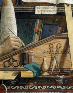 Picture no: 30002224 Ghirlandaio, St Jerome, Writing Desk Created by: Ghirlandaio Domenico (Domenico Tommaso Bigordi)