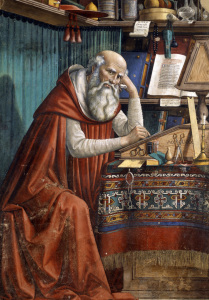Picture no: 30002226 Ghirlandaio / St. Jerome Created by: Ghirlandaio Domenico (Domenico Tommaso Bigordi)
