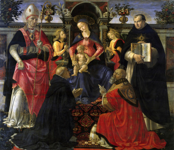 Picture no: 30002228 Enthroned Madonna & Saints / Ghirlandaio Created by: Ghirlandaio Domenico (Domenico Tommaso Bigordi)