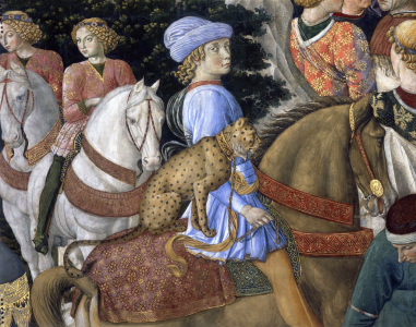 Picture no: 30002256 Gozzoli, Procession of Magi, Detail Created by: Gozzoli, Bennozzo