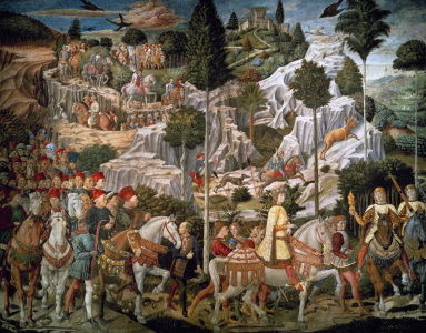 Picture no: 30002264 Gozzoli / Procession of the Magi Created by: Gozzoli, Bennozzo