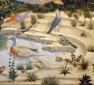 Picture no: 30002278 B.Gozzoli / Landscape with birds Created by: Gozzoli, Bennozzo