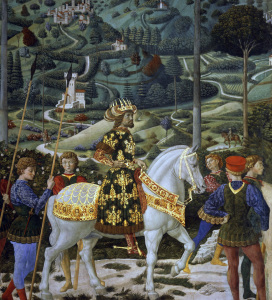 Picture no: 30002280 Gozzoli / Procession of Magi / Detail Created by: Gozzoli, Bennozzo