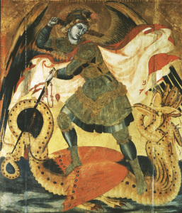 Picture no: 30002350 Lorenzetti / Michael and the Dragon Created by: Lorenzetti, Ambrogio
