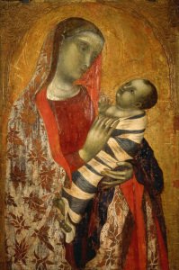 Picture no: 30002356 Ambrogio Lorenzetti /Madonna & Child/Ptg Created by: Lorenzetti, Ambrogio
