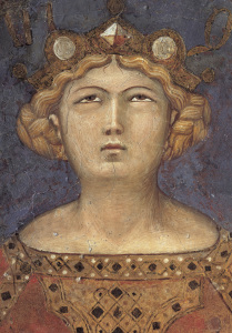 Picture no: 30002366 A.Lorenzetti / Head of Justitia / Fresco Created by: Lorenzetti, Ambrogio