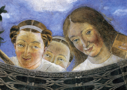Picture no: 30002378 A.Mantegna, Cam.Sposi/Women looking down Created by: Mantegna, Andrea