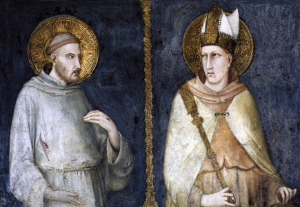 Picture no: 30002402 Simone Martini, St. Francis and Louis Created by: Martini, Simone