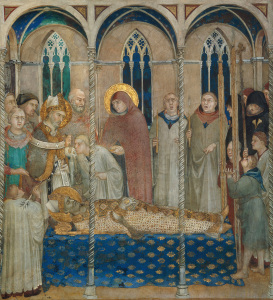 Picture no: 30002430 Simone Martini / Exequies of St. Martin Created by: Martini, Simone