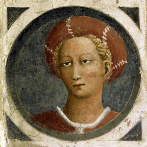Picture no: 30002440 Masaccio / Female Portr./ Fresco / C15th Created by: Masaccio (Tommaso di Giovanni di Simone Guidi)