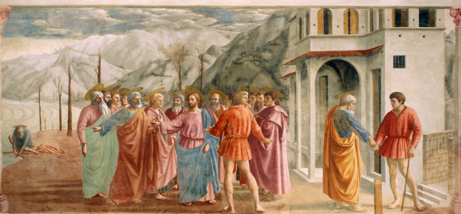 Picture no: 30002446 Masaccio / The Tribute Money / 1425 Created by: Masaccio (Tommaso di Giovanni di Simone Guidi)