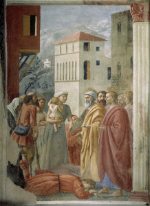 Picture no: 30002468 Masaccio / St.Peter Shares Alms.../ 1425 Created by: Masaccio (Tommaso di Giovanni di Simone Guidi)