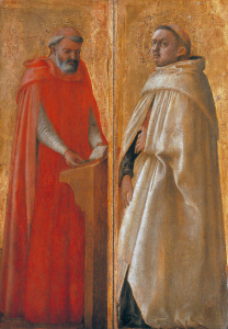 Picture no: 30002474 Masaccio /Two Holy Carmelites/ Paint. Created by: Masaccio (Tommaso di Giovanni di Simone Guidi)