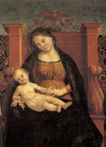 Picture no: 30002534 L.Signorelli /Madonna & Child /Ptg./1508 Created by: Signorelli, Luca