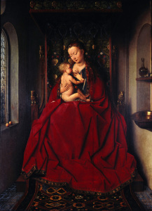 Picture no: 30002604 J.van Eyck, Lucca Madonna /Paint./c.1436 Created by: van Eyck, Hubert & Jan