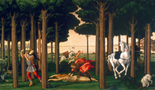 Picture no: 30002630 Botticelli / Story of Nastagio II / 1483 Created by: Botticelli, Sandro